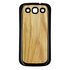 Light Wood Samsung Galaxy S3 Back Case (Black)