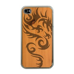 Tribal Dragon Apple Iphone 4 Case (clear)