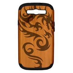 Tribal Dragon Samsung Galaxy S III Hardshell Case (PC+Silicone)