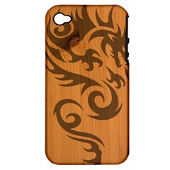 Tribal Dragon Apple iPhone 4/4S Hardshell Case (PC+Silicone)