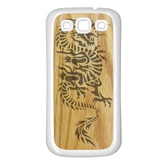 Tribal Dragon On Wood Samsung Galaxy S3 Back Case (white)