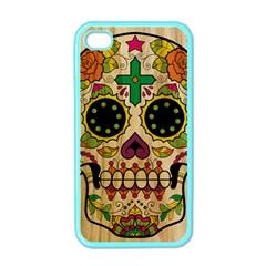 Sugar Skull Apple Iphone 4 Case (color)