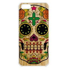 Sugar Skull Apple Iphone 5 Seamless Case (white)