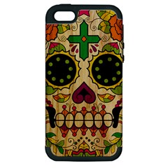 Sugar Skull Apple iPhone 5 Hardshell Case (PC+Silicone)