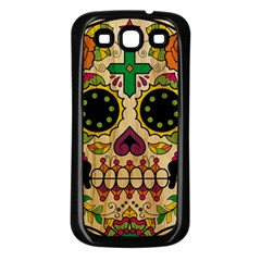 Sugar Skull Samsung Galaxy S3 Back Case (Black)