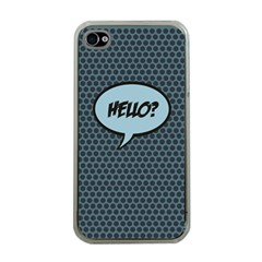 Hello Apple Iphone 4 Case (clear)