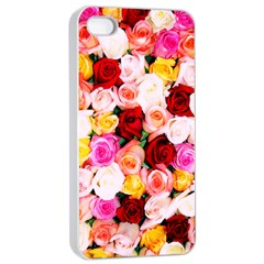 Stop & Smell The Iphone Apple Iphone 4/4s Seamless Case (white)