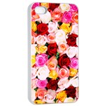Stop & Smell the iPhone Apple iPhone 4/4s Seamless Case (White) Front