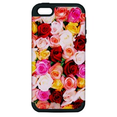 Stop & Smell the iPhone Apple iPhone 5 Hardshell Case (PC+Silicone)