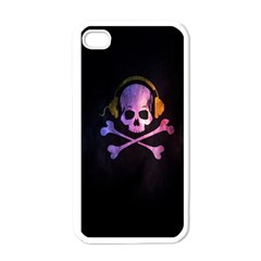 Rock out with your Skull out... Apple iPhone 4 Case (White)