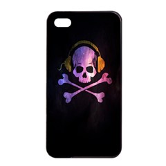 Rock out with your Skull out... Apple iPhone 4/4s Seamless Case (Black)