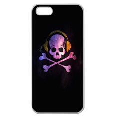 Rock out with your Skull out... Apple Seamless iPhone 5 Case (Clear)