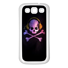 Rock out with your Skull out... Samsung Galaxy S3 Back Case (White)