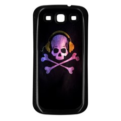 Rock out with your Skull out... Samsung Galaxy S3 Back Case (Black)