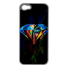 Diamonds are forever. Apple iPhone 5 Case (Silver)