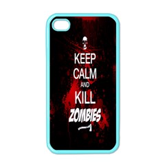 Keep Calm & Kill Zombies Apple iPhone 4 Case (Color)
