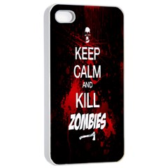 Keep Calm & Kill Zombies Apple iPhone 4/4s Seamless Case (White)