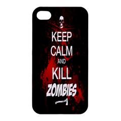 Keep Calm & Kill Zombies Apple iPhone 4/4S Premium Hardshell Case