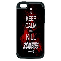 Keep Calm & Kill Zombies Apple iPhone 5 Hardshell Case (PC+Silicone)
