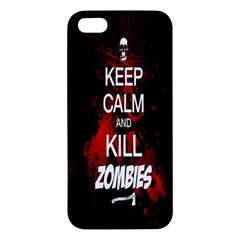Keep Calm & Kill Zombies iPhone 5S Premium Hardshell Case