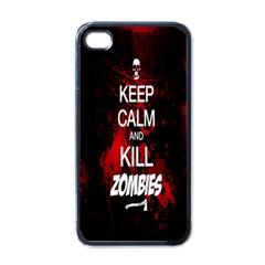 Keep Calm & Kill Zombies Apple Iphone 4 Case (black)