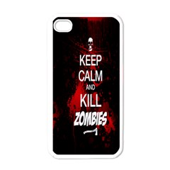 Keep Calm & Kill Zombies Apple Iphone 4 Case (white)