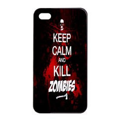 Keep Calm & Kill Zombies Apple iPhone 4/4s Seamless Case (Black)