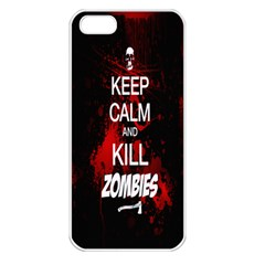 Keep Calm & Kill Zombies Apple iPhone 5 Seamless Case (White)