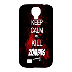 Keep Calm & Kill Zombies Samsung Galaxy S4 Classic Hardshell Case (PC+Silicone)