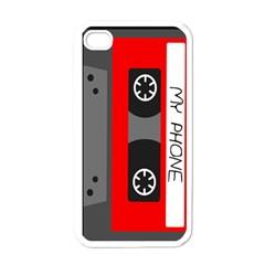 Cassette Phone Apple iPhone 4 Case (White)
