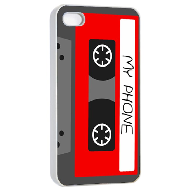 Cassette Phone Apple iPhone 4/4s Seamless Case (White)