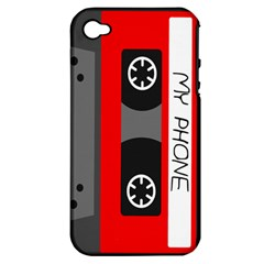 Cassette Phone Apple Iphone 4/4s Hardshell Case (pc+silicone)
