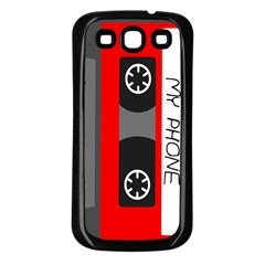 Cassette Phone Samsung Galaxy S3 Back Case (Black)