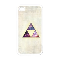 Cosmic Triangles Apple iPhone 4 Case (White)