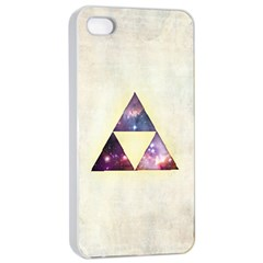 Cosmic Triangles Apple Iphone 4/4s Seamless Case (white)