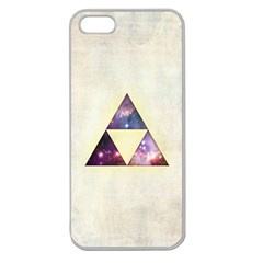 Cosmic Triangles Apple Seamless iPhone 5 Case (Clear)