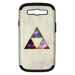 Cosmic Triangles Samsung Galaxy S Iii Hardshell Case (pc+silicone)