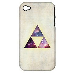 Cosmic Triangles Apple Iphone 4/4s Hardshell Case (pc+silicone)