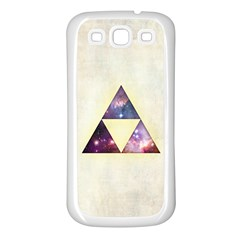 Cosmic Triangles Samsung Galaxy S3 Back Case (white)