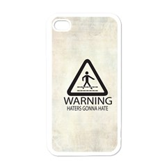 Warning: Haters gonna hate Apple iPhone 4 Case (White)