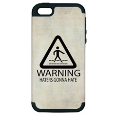 Warning: Haters gonna hate Apple iPhone 5 Hardshell Case (PC+Silicone)