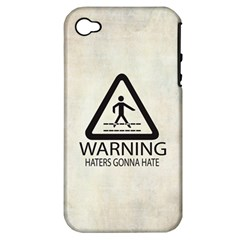 Warning: Haters Gonna Hate Apple Iphone 4/4s Hardshell Case (pc+silicone)