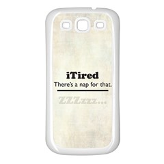 iTired Samsung Galaxy S3 Back Case (White)