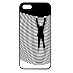 Hang On The Phone!  Apple iPhone 5 Seamless Case (Black)