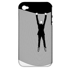 Hang On The Phone!  Apple iPhone 4/4S Hardshell Case (PC+Silicone)