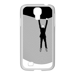 hang On The Phone!  Samsung Galaxy S4 I9500/ I9505 Case (white)