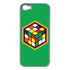 Colorful Cube, Solve It! Apple Iphone 5 Case (silver)