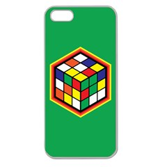 Colorful Cube, Solve It! Apple Seamless iPhone 5 Case (Clear)