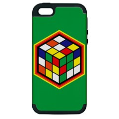 Colorful Cube, Solve It! Apple iPhone 5 Hardshell Case (PC+Silicone)