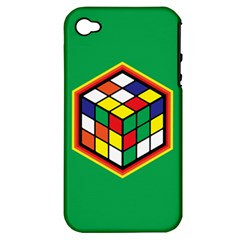 Colorful Cube, Solve It! Apple iPhone 4/4S Hardshell Case (PC+Silicone)